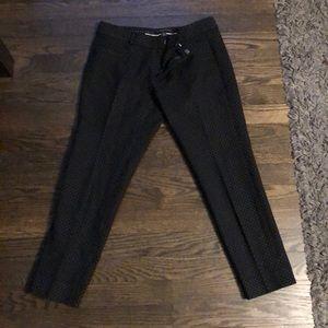 Banana Republic Sloan pants- black polka dots